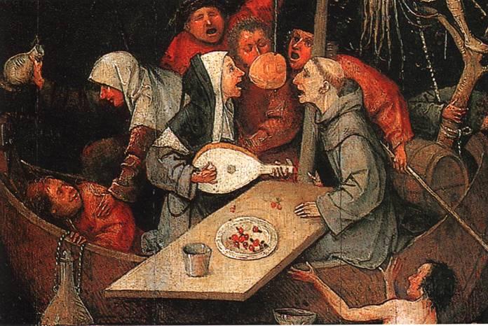Иероним Босх, «Корабль дураков» (центральный фрагмент)